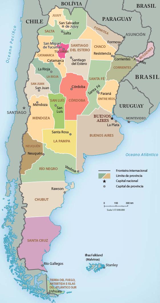 Mapas Geográficos Da Argentina - Argentina mapa