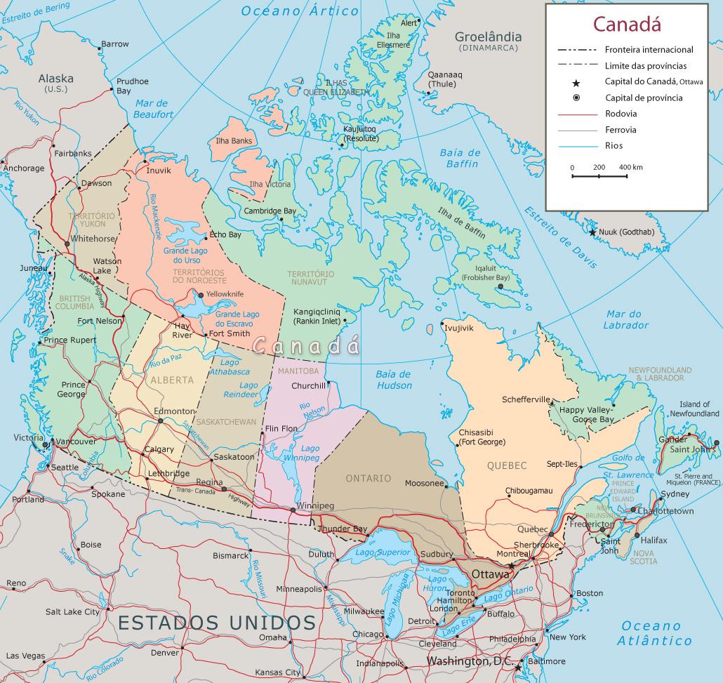 Mais: Dados do Canadá e Mapa Interativo