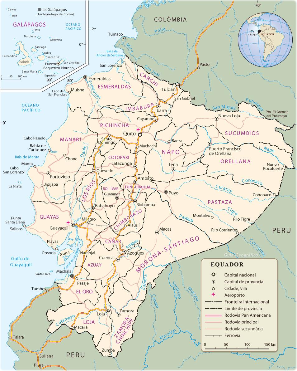 Mapa Equador