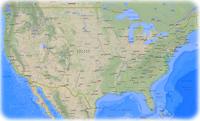 Mapa Estados Unidos  EUA EEUU USA  Hawaii New York